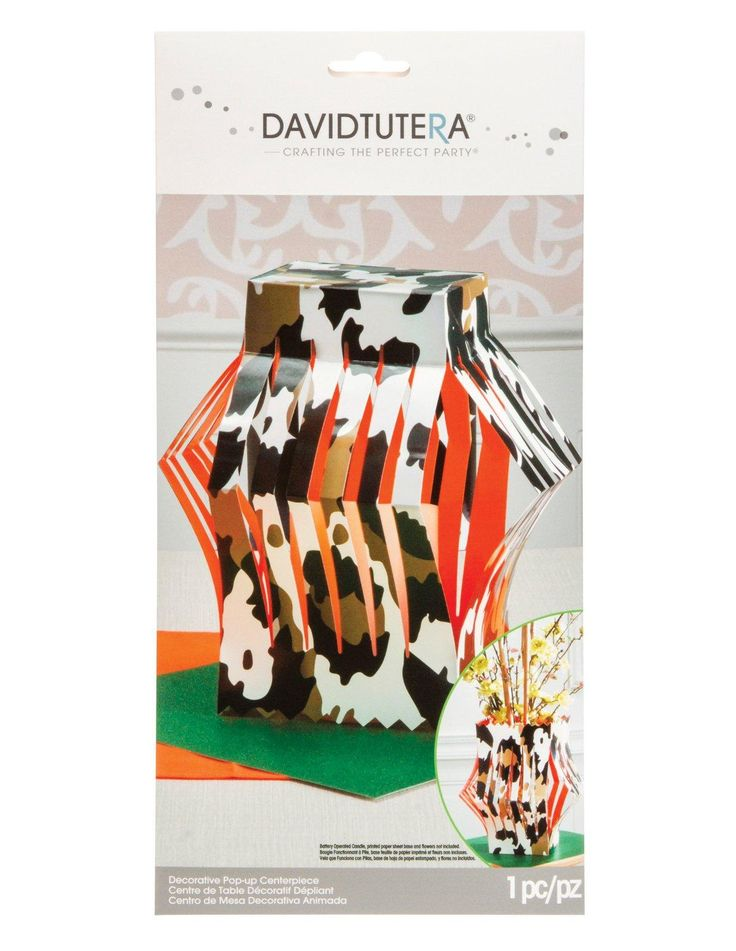 Cool Party Supplies David Tutera Wild Side Die Cut Vase Centerpiece just added...