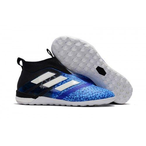 Adidas ACE Tango 17  Purecontrol IC Fußballschuhe Blau Schwarz Weiß