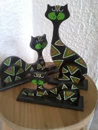 Resultado de imagen de gatos en puntillismo