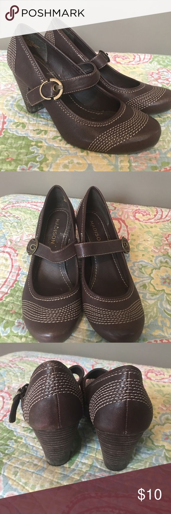 """Madison pumps. Sz 6.5. Great condition Beautiful brown Madison pumps. Sz 6.5 with 3"""" heel. Great condition. Madison Shoes Heels"""