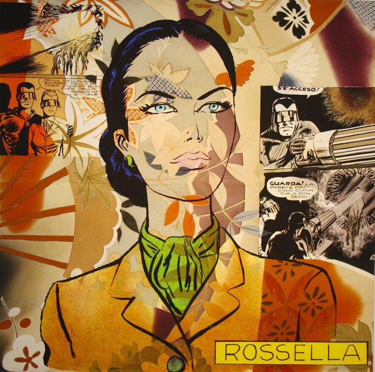 """Rossella"" tecnica mista su tela emulsionata 80 x 80 cm, 2012 (Artist: Cristina Stifanic)"