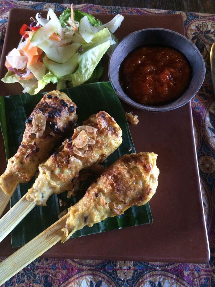 Pepes Ikan - fish mince on skewers