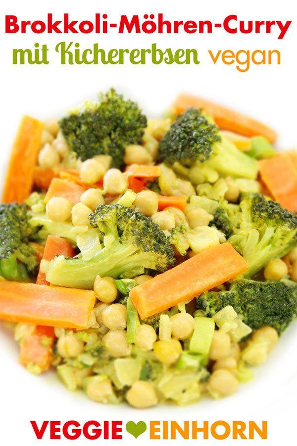 Einfache Vegane Rezepte Veggie Einhorn Kichererbsen Rezepte Brokkoli