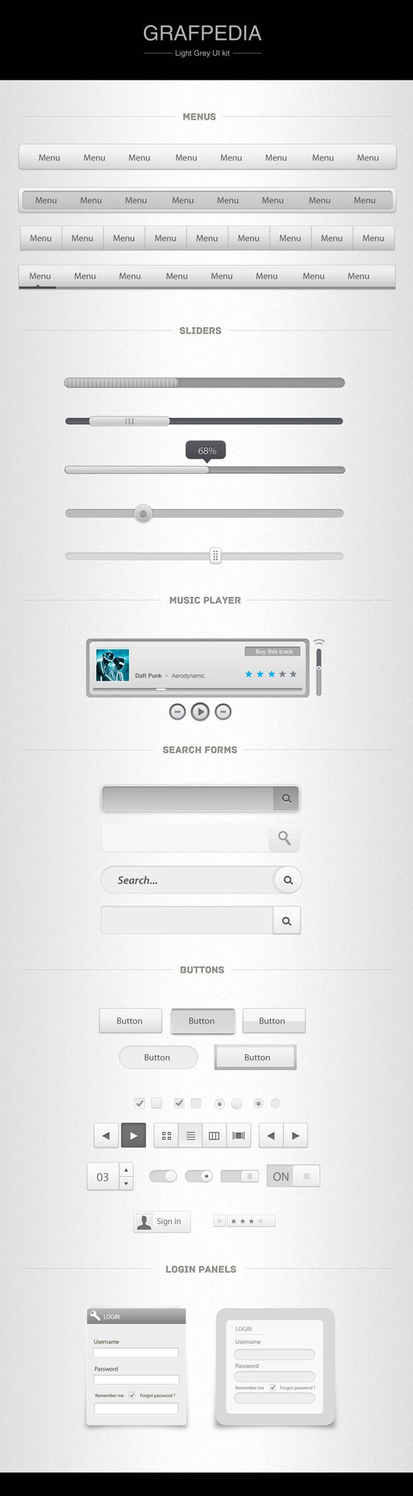 Incredible Light Grey UI Kit