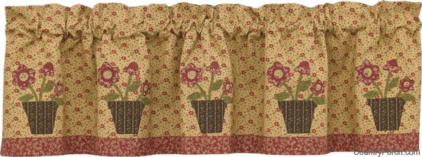 Simple Praise Applique Lined Curtain Valance by Park Designs at The Country Porch