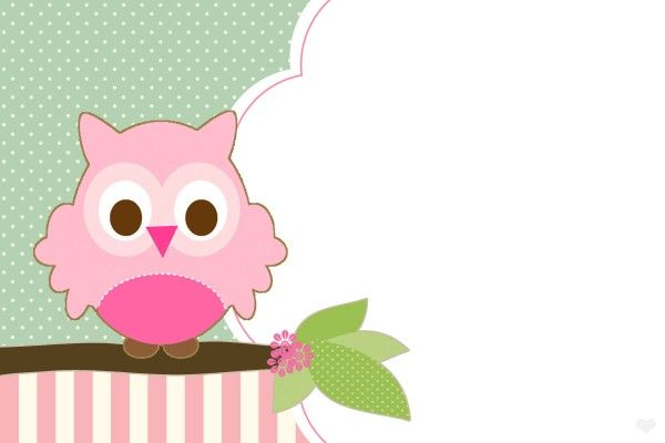 FREE Owl Party Printables Set for Girls  Blank Owl Invitation                                                                                                                                                      Más