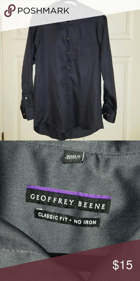 Geoffrey Beene Men's dress shirt Charcoal gray button down dress shirt. 15.5 neck, 32/33, classic fit, no iron. Geoffrey Beene Shirts Dress Shirts