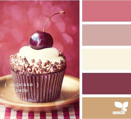 cupcake reds: Cupcake Reds, Idea, Color Palettes, Design Seeds, Colors, Pink, Designseeds, Colour Palettes