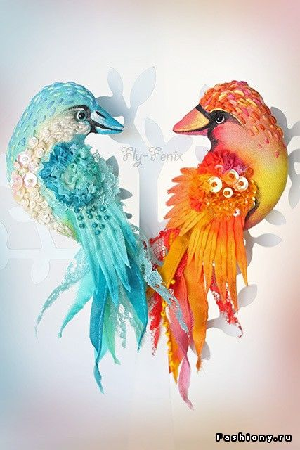 Творения мастеров: Fly-Fenix. Броши в виде птиц от Юлии Гориной (Севастьяновой) / потрясные творения