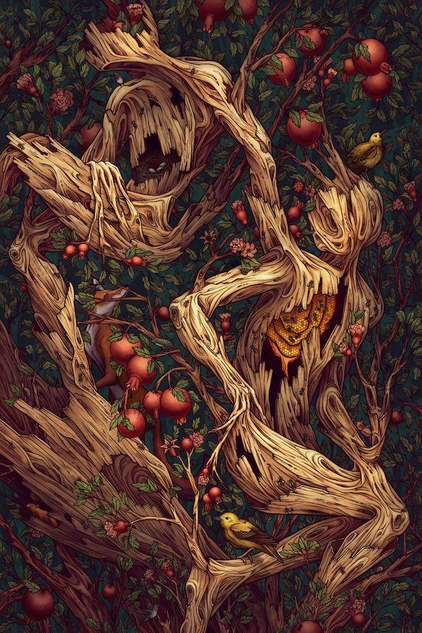 Fleet Foxes Album Poster by Kate O'Hara, via Behance