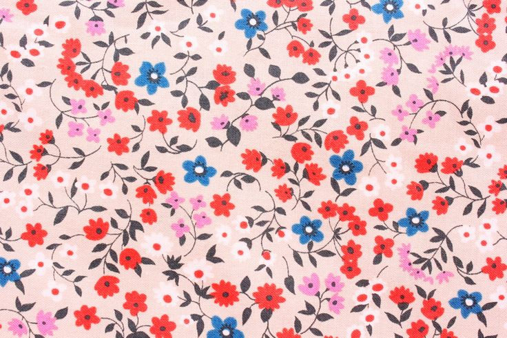 Cotton Steel Fabric, Cotton + Steel, RJR Fabrics, Lucky Strikes, Floral Fabric, Cotton, Little Flowers, Light Brown, Half Metre by TCRFabricStore on Etsy