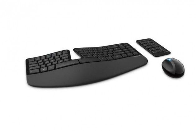 Microsoft Surface Ergonomic Keyboard points to all-in-one