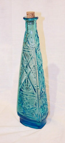 turquoise glass decanter