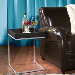 McCoy  @Overstock - Upgrade your home decor with this Pierson black oak end table    Living room furniture boasts stainless steel frame construction  End table is highlighted by a contemporary case design on tophttp://www.overstock.com/Home-Garden/Pierson-Black-Oak-End-Table/3415087/product.html?CID=214117 $89.99