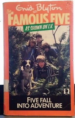 Five Fall into Adventure by Enid Blyton acceptable cond FREE POST!! PB 1968