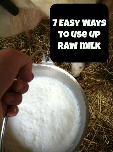 7 Ways To Use Up Raw Milk