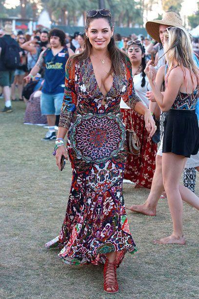 Kelly Brook beim Coachella-Festival