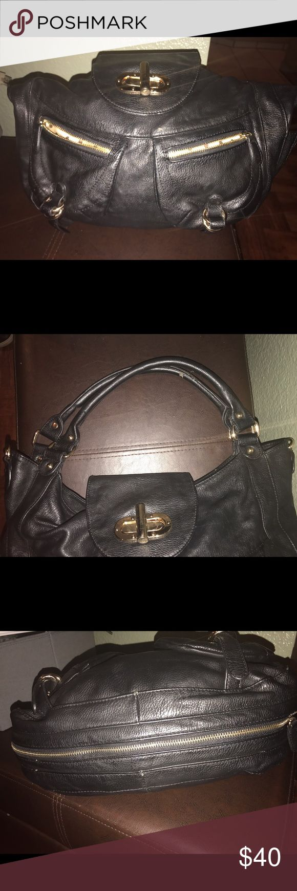 Melie Bianco purse Black nice purse over the shoulder super in the bottom does open and makes inside a little larger. Clean good material. Melie Bianco Bags Shoulder Bags