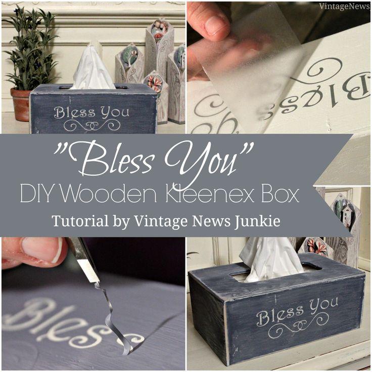 'Bless You' DIY Wooden Kleenex Box #Kleenextarget #PMedia #ad