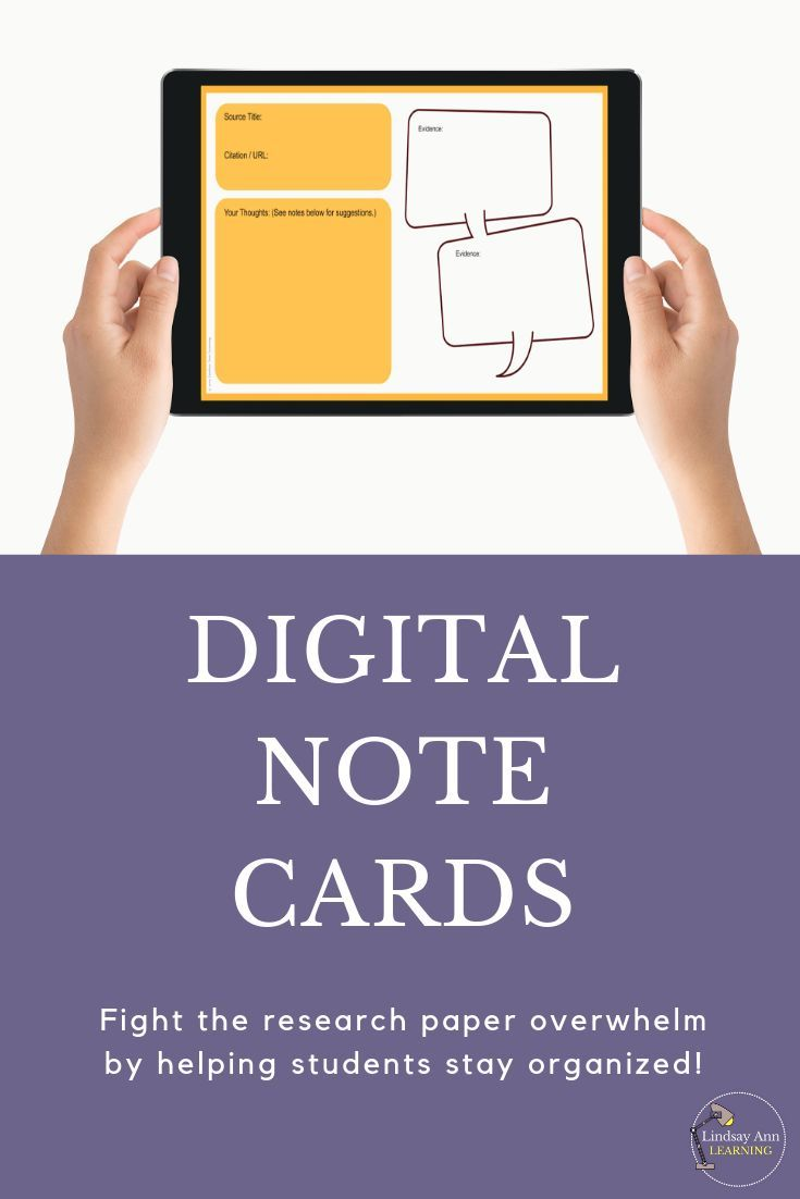 Digital Research Paper Note Cards Templates For Middle High School Students Research Paper High School Teaching Strategies Effective Teaching Strategies