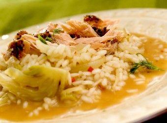 Duftende risotto med laks og fennikel | Fru Timian