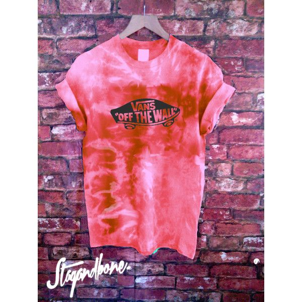 Unisex Authentic Vans Off the Wall Tie Dye T-Shirt ($47) ❤ liked on Polyvore featuring tops, t-shirts, grey, women's clothing, tye die t shirts, unisex t shirts, short sleeve tee, gray t shirt and gray top