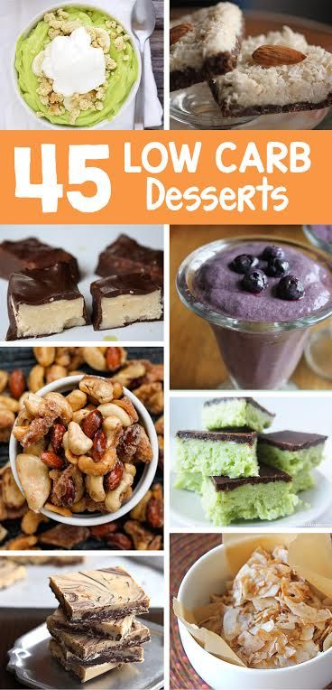 Trying to cut carbs? 45 Low Carb Desserts that are sure to please! All of them are vegan desserts too - and surprisingly they're paleo desserts too!