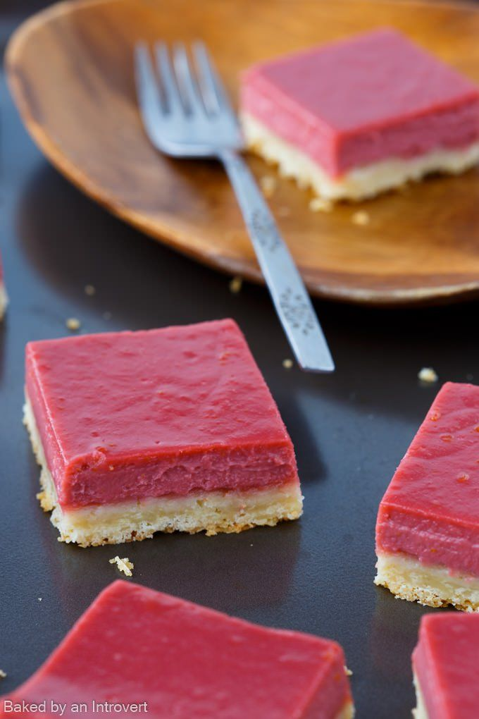 Blood Orange Bars are a less tangy version of lemon bars. They are vibrant, full of orange flavor, and rest on a buttery shortbread crust.