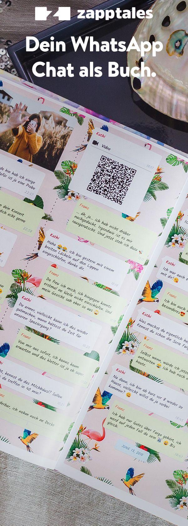 Dein WhatsApp Chat als Buch. in 20   Presents for boyfriend, Diy ...