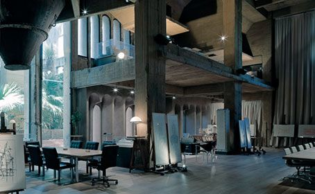 A former Cement Factory is now the workspace and residence of Ricardo Bofill