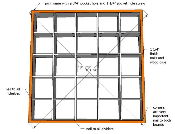 Ana White   5x5 Storage Cubbies - DIY Projects