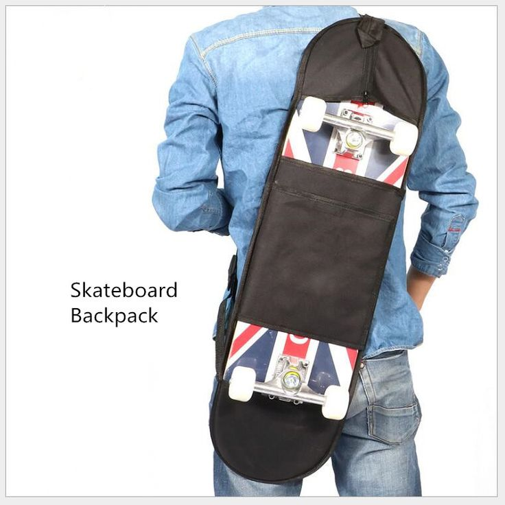 "Blank 82x25cm Skateboard Backpack Oxford Cloth Carrying Bag 4 Wheels Skateboard Bag for 31""x8"" Skateboard Decks"