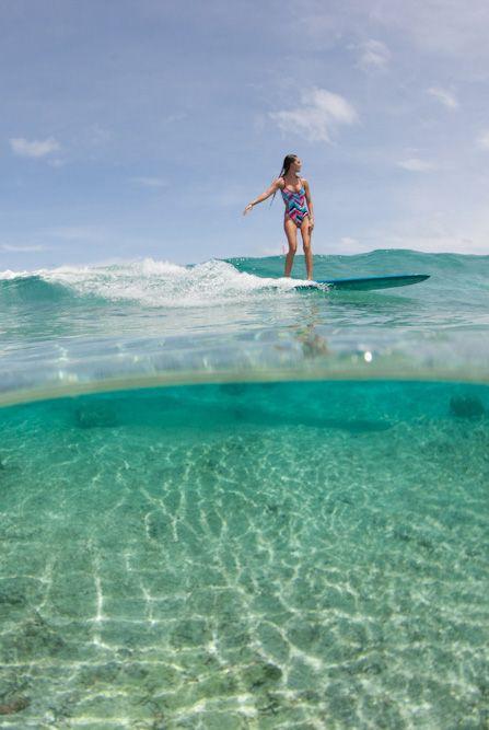 Glassy waters & one piece #bikinis