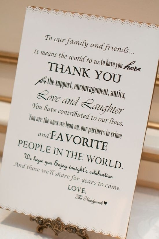put on the gift table - good idea - wish-upon-a-wedding