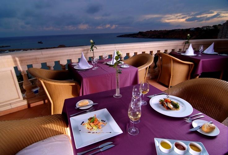 Terrace of the Splendor Restaurant at the Hotel Port Adriano Marina Golf & Spa, El Toro, Mallorca  http://www.hotelportadriano.com/