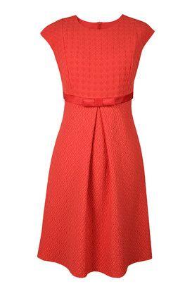 Suknia koktajlowa Kelly czerwona z kokardką