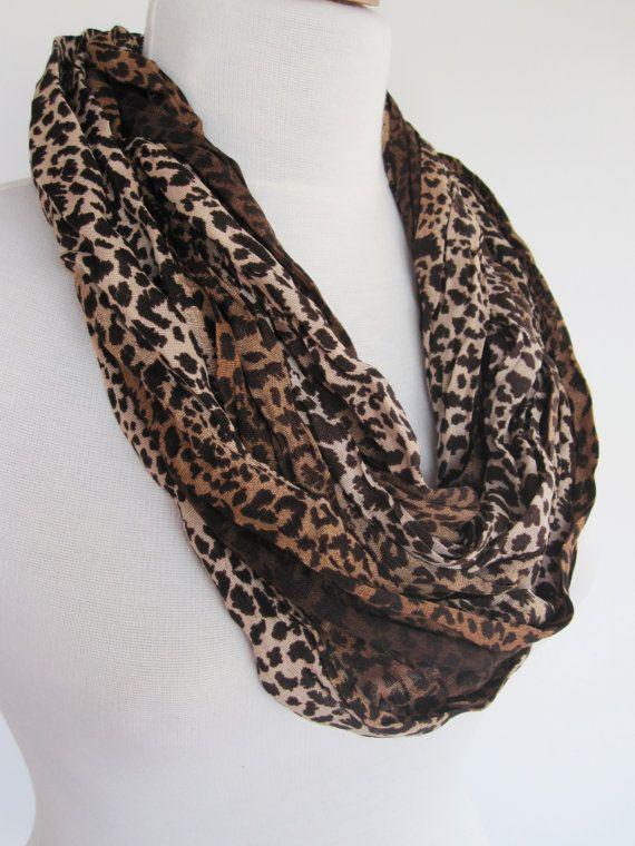 Elegant Leopard Long Cotton Scarf Gift by mediterraneanlights