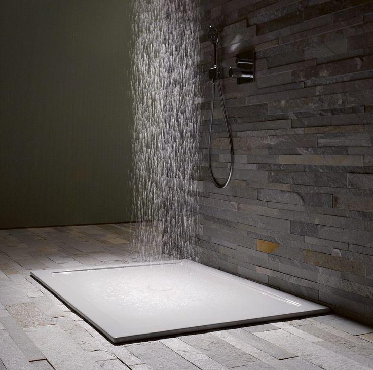 25 beste idee n over tegels in de badkamers op pinterest badkamers badkamer tegels ontwerpen - Idee mozaieken badkamer ...