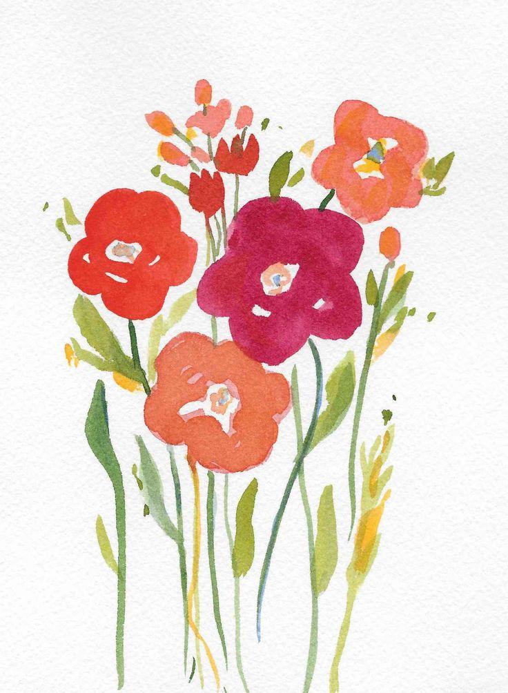 Choose Joy - Feeling Inspired // watercolor florals