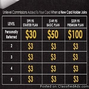 ZBlackcard. A credit card to where you really get paid back!!! Plus benefits that can compete with Visa/Mastercard. To learn more go to my presentation http://www.lbbzlicense.blogspot.com Join my affiliate link http://zblackcard.com/lbbmarketing You can contact me on google voice 205-409-0788