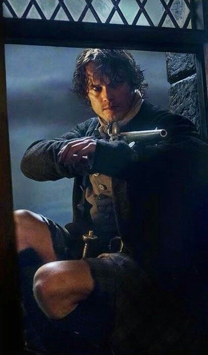 "Jaime goes in to Fort William to rescue Claire.  "" I'll thank ye..to take your hands off my wife"""
