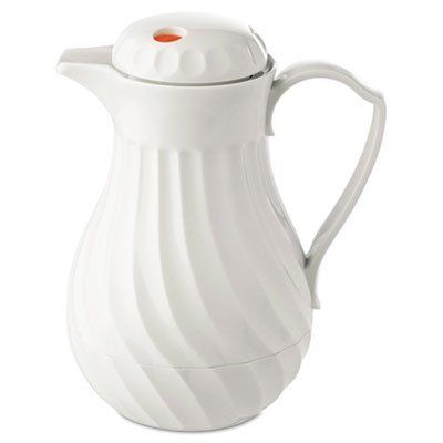 Polyurethane insulation keeps beverages hot or cold  HORMEL CORP  Poly Lined Carafe Swirl Design 64oz Capacity White * See this great product.