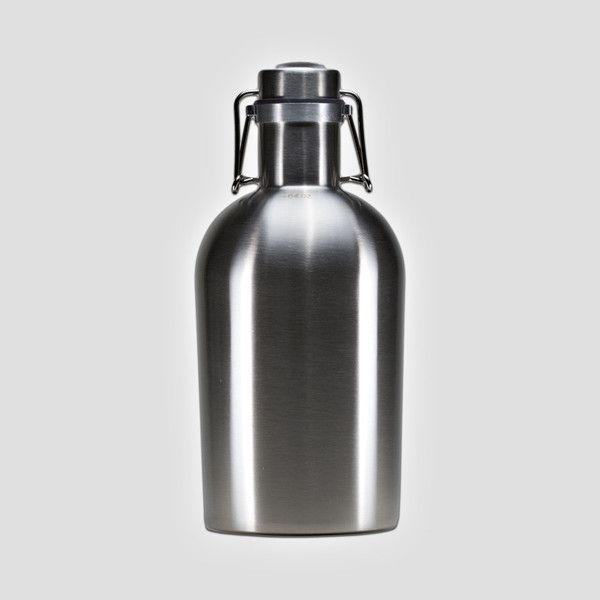 Stainless Steel Growler Holds 64 oz Beer
