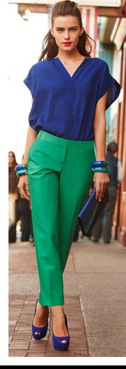 Love these two colors together! #blue #green