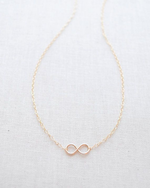 Tiny Handmade Gold Infinity Necklace by Olive Yew