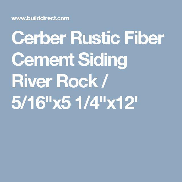 """Cerber Rustic Fiber Cement Siding River Rock / 5/16""""x5 1/4""""x12'"""