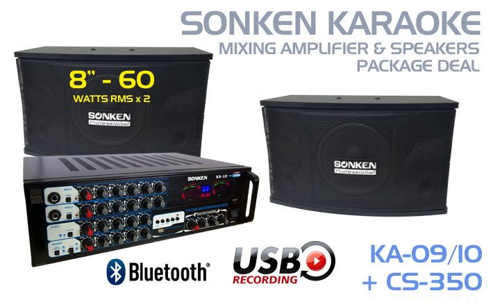 Australia's Best Karaoke Amplifier and Speaker Package Deals with Bluetooth feature so you can stream you music from your tablet and smartphone or choose the USB Record feature starting from only $499.99.