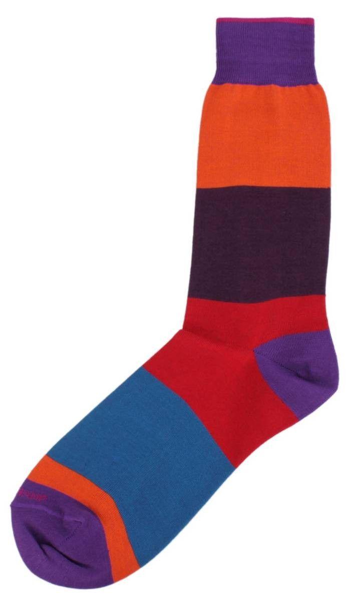 Mens Socks | Purple/Multi-colour Socks | @ KJ Beckett #mens #socks #striped #cosy