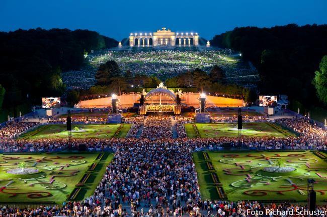 AUSTRIA, VIENNA, Schönbrunn Palace - Vienna Philharmonic's summer night concert