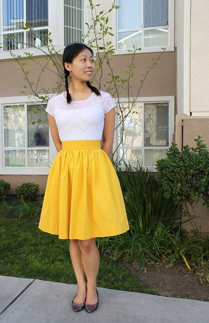 easy peasy gathered skirt - GREAT colour